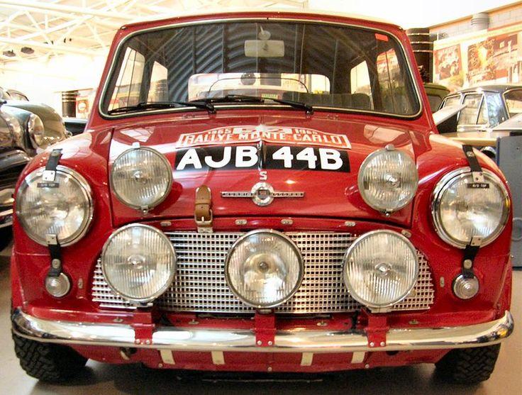 The 1964 Morris Mini Cooper S, winner of the 1965 Monte Carlo Rally