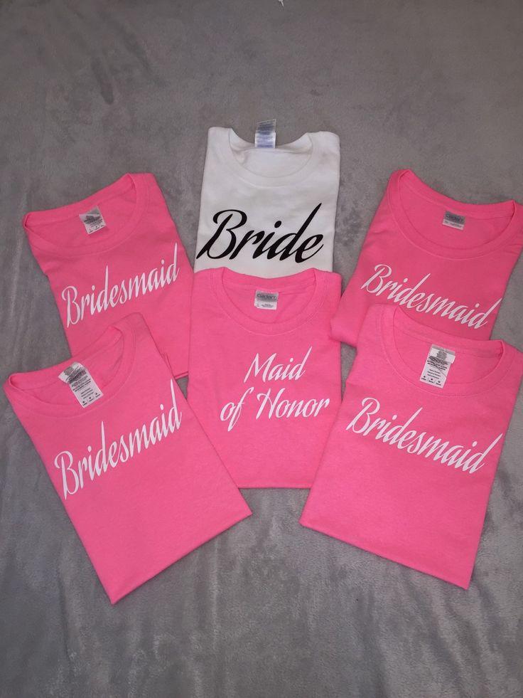 Womens T Shirts Maid Of Honor Bridal Party Tees Bachelorette Cheap Bridesmaids