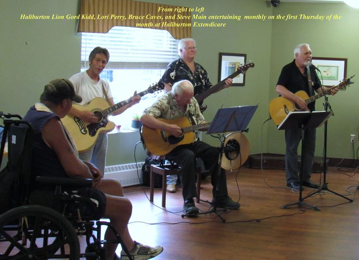 The Lions with Gord Kidd & Friends have a Sing-A-Long at the Haliburton Extendicare Long Term Care Facility