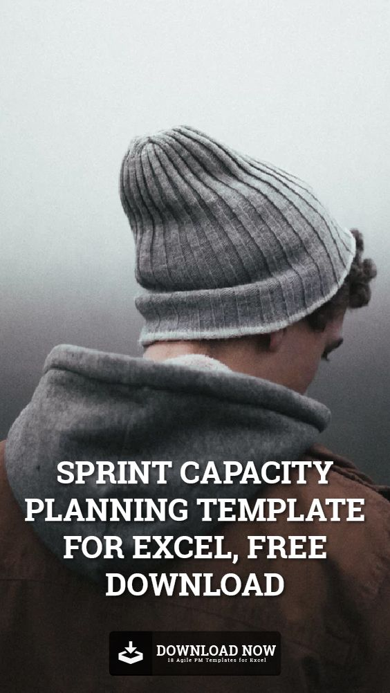 Download this Sprint Capacity Planning Template for Excel, free.