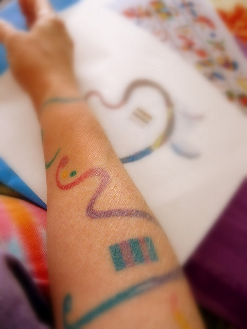 Wanted to celebrate my 48th birthday (in 2000, yikes!), with a new tattoo. Thought about something abstract. Maybe based on a work by a favorite artist.    After many months, decided to borrow some elements from Wassily Kandinsky's painting, Succession #Learn To Tattoo Like A God, The How To Tattoo Bible Will Show You Everything You Need To Become The Greatest    http://howtotattoobible.com/