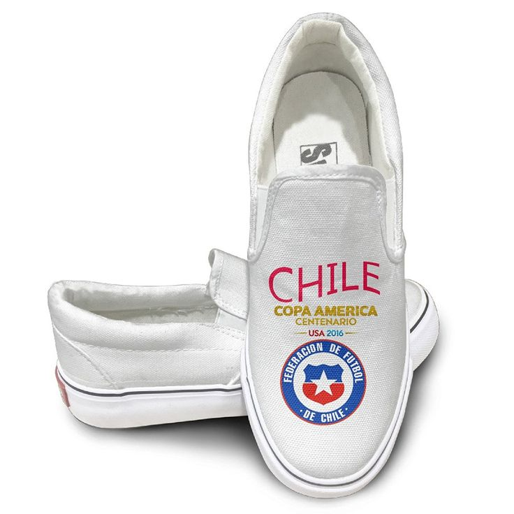 Personalized Canvas Shoes Chile National Football Team Logo Canvas Board Shoes For Men, Women And Teens *** You can find out more details at the link of the image.