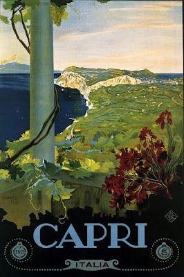 ITALY - Capri, Vintage travel poster