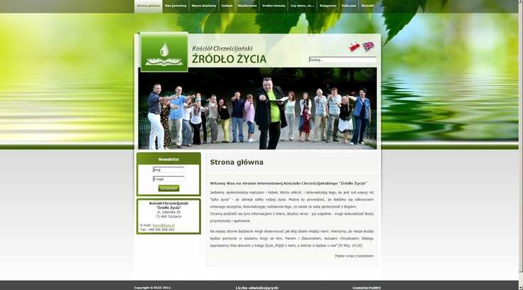 CMS website for Water Of Life Christian Church. http://www.kczz.pl/
