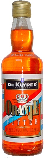 This is an old fashioned Dutch liquor called 'Oranje Bitter'. Nobody really likes the taste (it's pretty awful), but it looks so nice in a glass on Queens Day that we keep giving it a try. #greetingsfromnl
