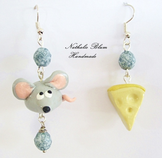 Pendientes hechos a mano con arcilla polimerica. earrings handmade ​​with polymer clay.