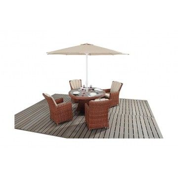 Port Royal Platinum Round Dining Set from £749.00 with FREE delivery!
