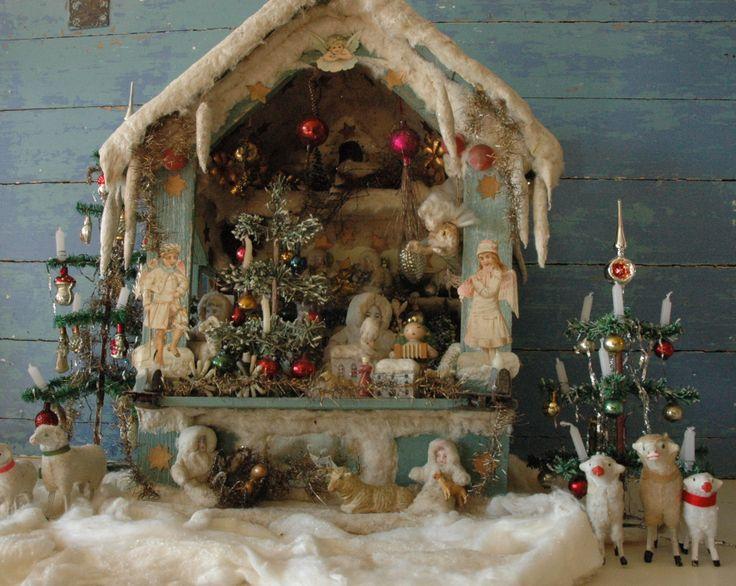 "Old ""german christmas market stall"" Christmas decoration."