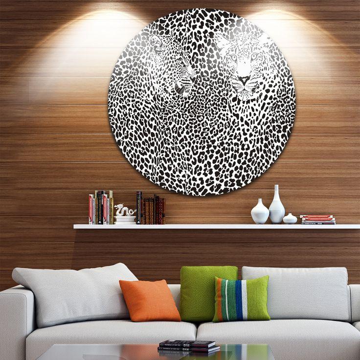 Designart 'Camouflage Leopards' Animal Art Disc Metal Artwork