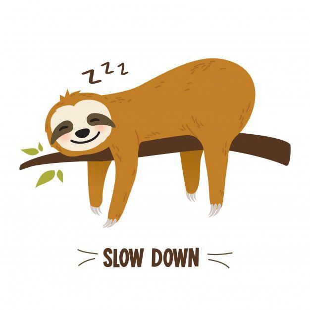 Niedliche Comic Faultier Grafik In 2020 Sloth Cute Drawings