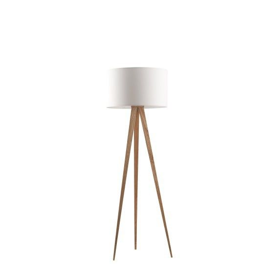 White floor retro lamp // Product available on e-homelovers.pl