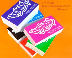 Waterproof Stickers printed in 6 different bright bold colours for Bboylaces