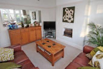1930'3 semi - living room ideas, oak furniture and leather settees