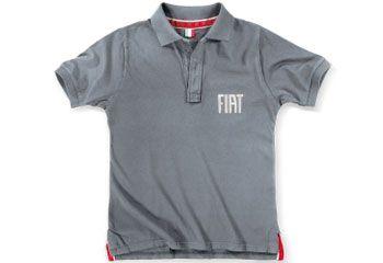 Fiat Mens Grey Polo Shirt | Clothing | Fiat Merchandise | SG Petch