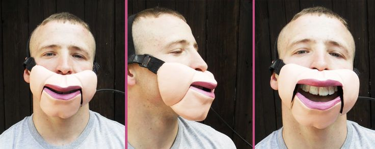 The Butt Chin Cable Controlled Professional Ventriloquist Mask.