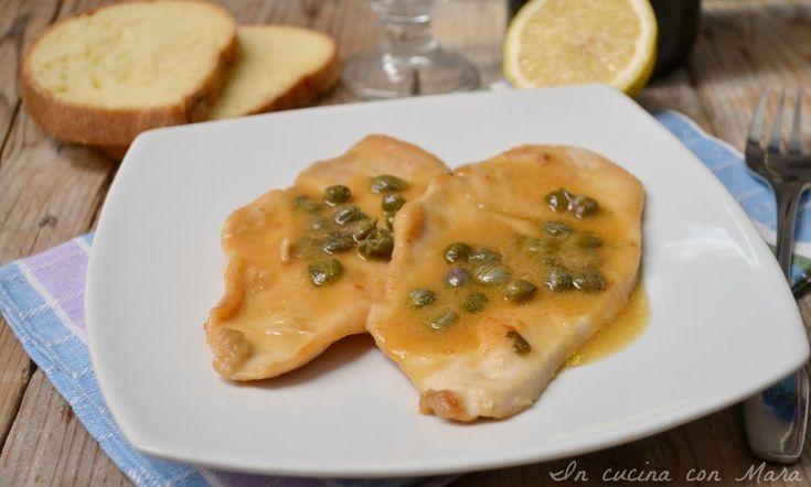 Petto di pollo in salsa di limone e capperi