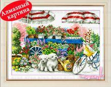 trasporto libero diy pittura di diamanti croce kit intarsiato pittura decorativa diamante ricamo due cani DM1203003(China (Mainland))