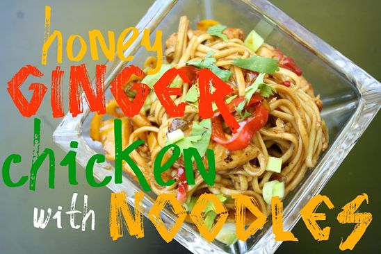 honey ginger chicken w/ noodles yummm @Janetha G [meals & moves]Gingers Chicken, Moving Blog, Heatlhy Honey, Food Pasta, Gingers Chx, Honey Giner, Honey Gingers, Giner Chicken, Chicken Noodles
