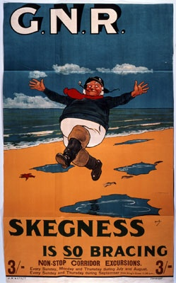 Seaside showcase | The National Archives GNR poster, Skegness is so bracing, 1909 Catalogue reference: COPY 1/277 f222