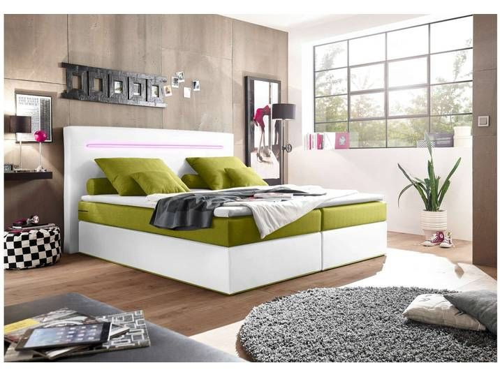 Stylefy Concord Boxspringbett 160x200 Weiss Grun In 2020 Haus