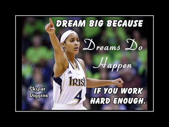 Girls Basketball Art Daughter Wall Decor Skylar Diggins Quote
