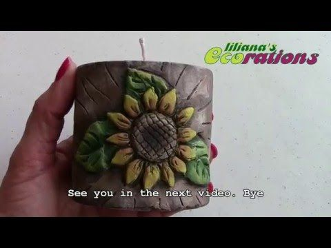 How to make a hand carved candle - Como hacer una vela tallada