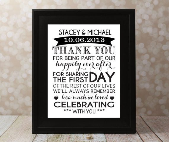 Wedding Thank You Card With The Bride And By