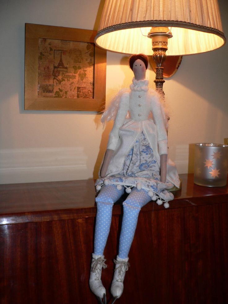 Tilda winter doll with ice skate - Angel winter doll - Handmade - Vintage - Gift - Home decoration - Home decor - Interior by TundeFairys on Etsy