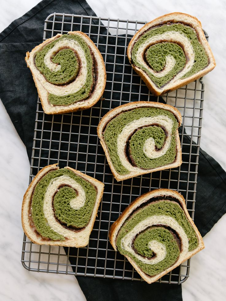 Matcha + Azuki Hokkaido Milk Bread — Fix Feast Flair