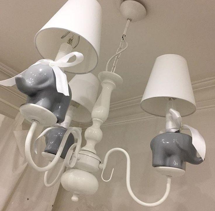 Bebek odadı , filli avize, baby room chandelier