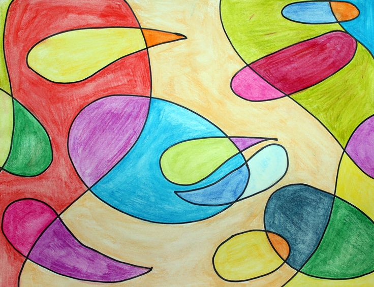 Clippings from the Studio Floor: Abstract Art using Watercolor Pencils