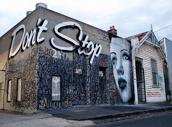 "Urban art shots: Rone ""don't stop"""