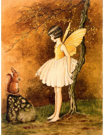 Forest Fairy Vintage Artwork - provenance not given - but believe it is an Ida Outhwaite--will verify later
