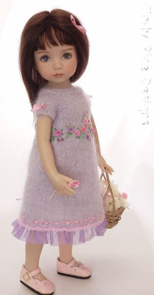 Cindy Rice Gina dress modeled by a Sculpt 1 Little Darling by Dianna Effner