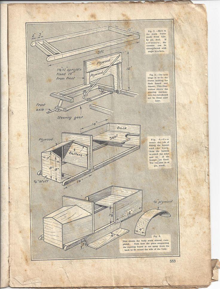 build your own vintage pedal car plans handicrafts magazine 1928page 24