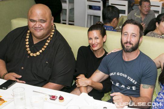 ♥♥♥ Taylor Wily, Alex O'Loughlin and wife Malia Jones - Chef Morimoto birthday celebration 5/24/15