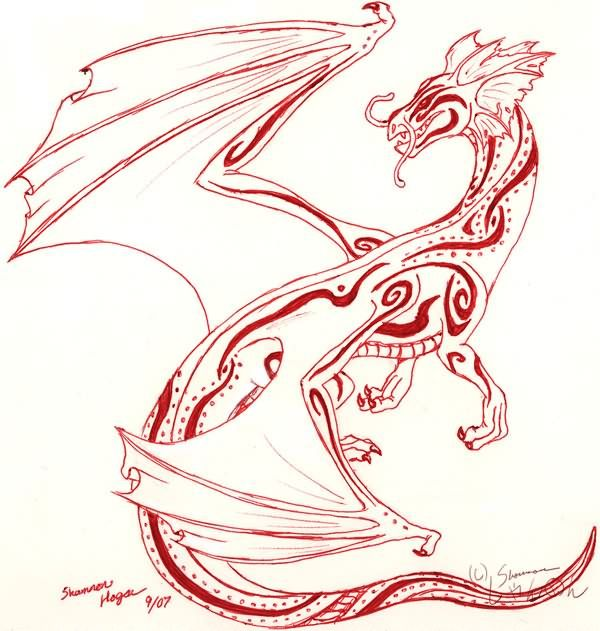 Asian Dragon Tattoo Sketch By Marinaalex On Deviantart: Pin By Kristie Stevens On Tattoos