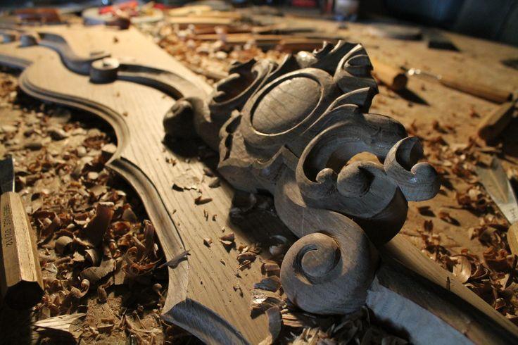 Portal, zwornik, wood carving, sculpture, stolarstwo warszawa