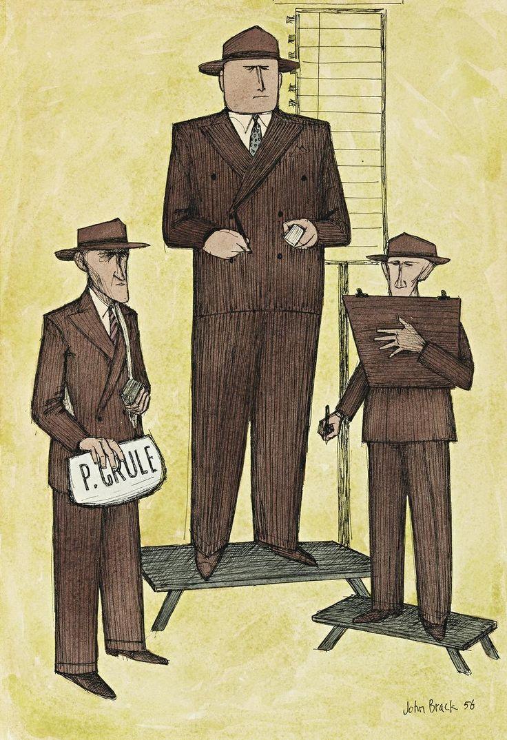 John Brack ~ The bookmaker, 1956