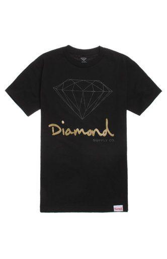 Diamond Supply Co Script Logo Tee #diamond #diamondsupplyco #pacsun