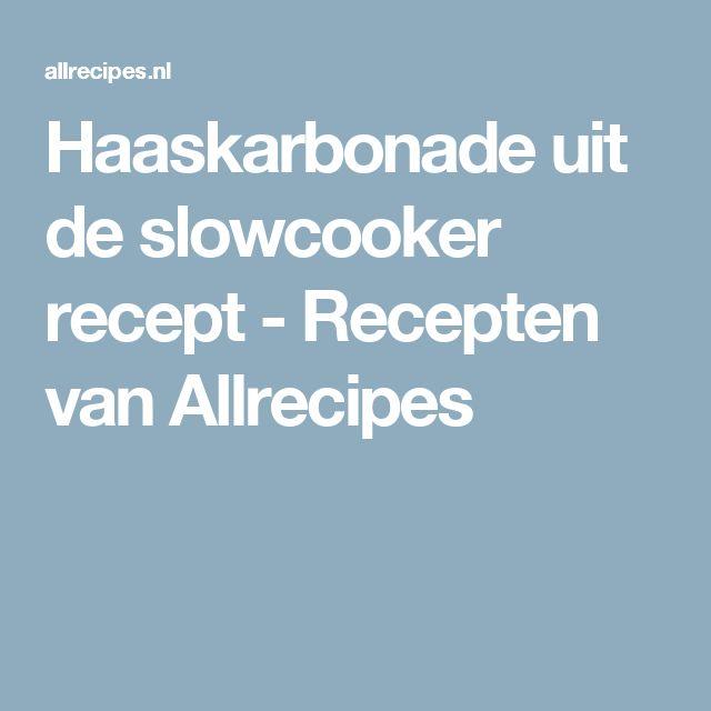 Haaskarbonade uit de slowcooker recept - Recepten van Allrecipes