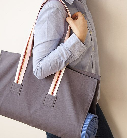 I would add an interior pocket with a zipper for keys/jewelry to this yoga bag.