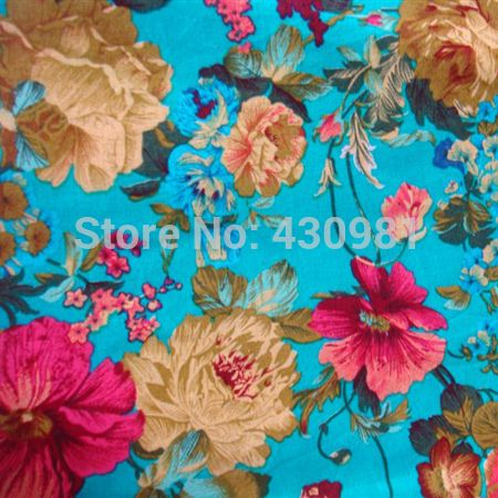 Aliexpress.com : Buy blue floral design cotton linen fabric for dress cheongsam vintage chinese ethnic large flowers print material telas from Reliable fabrics made from cotton suppliers on shipper xiao's store