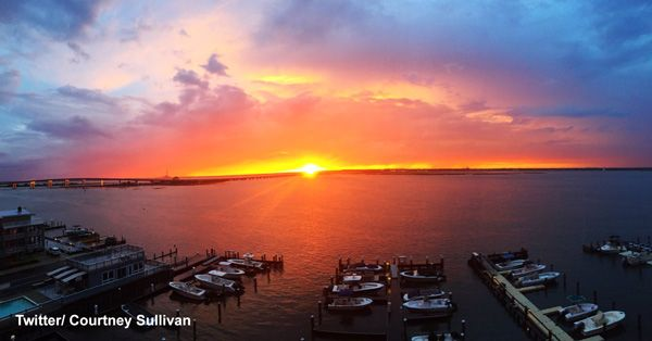 First sunset of Summer of 2016 followed by strawberry moon   6abc.com