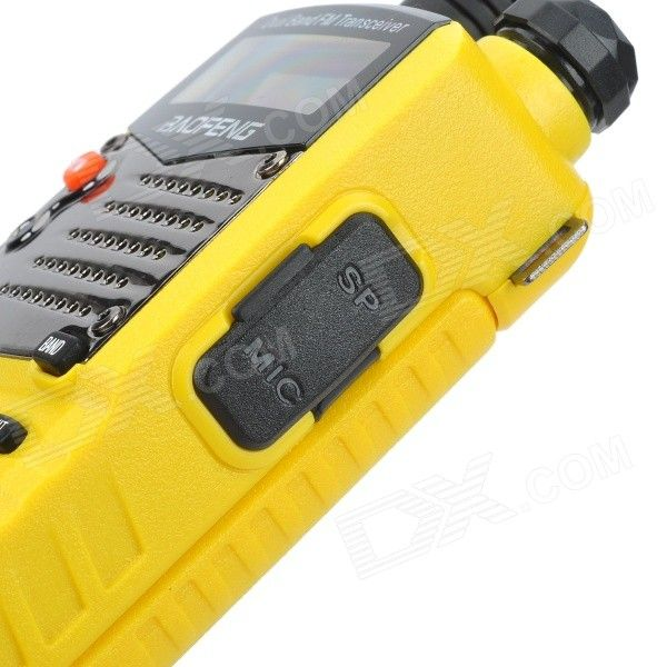 "BAOFENG UV-5RA 1.5"" LCD 5W Dual Band 128-CH Walkie Talkie w/ 1-LED Flashlight - Yellow"