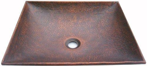 square copper vessel sink