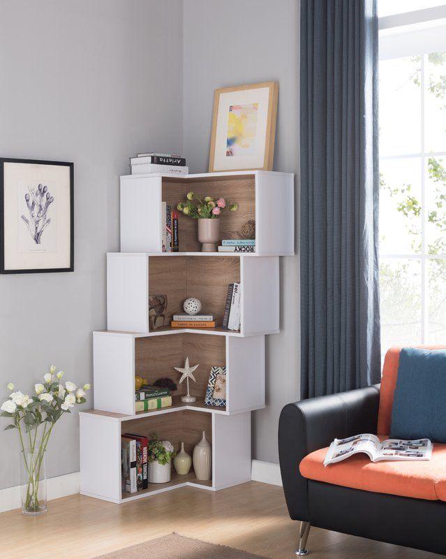 Farragutt Modern Corner Bookcase Luxury Home Furniture Corner