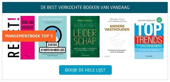 De best verkochte boeken bij Managementboek, met het boek 'RESET!, de 9 stappen om in beweging te komen' van Erik Jan Koedijk opnieuw op nummer 1 in de Bestseller TOP 100. #reset #erikjankoedijk #mgtboeknl #futurouitgevers