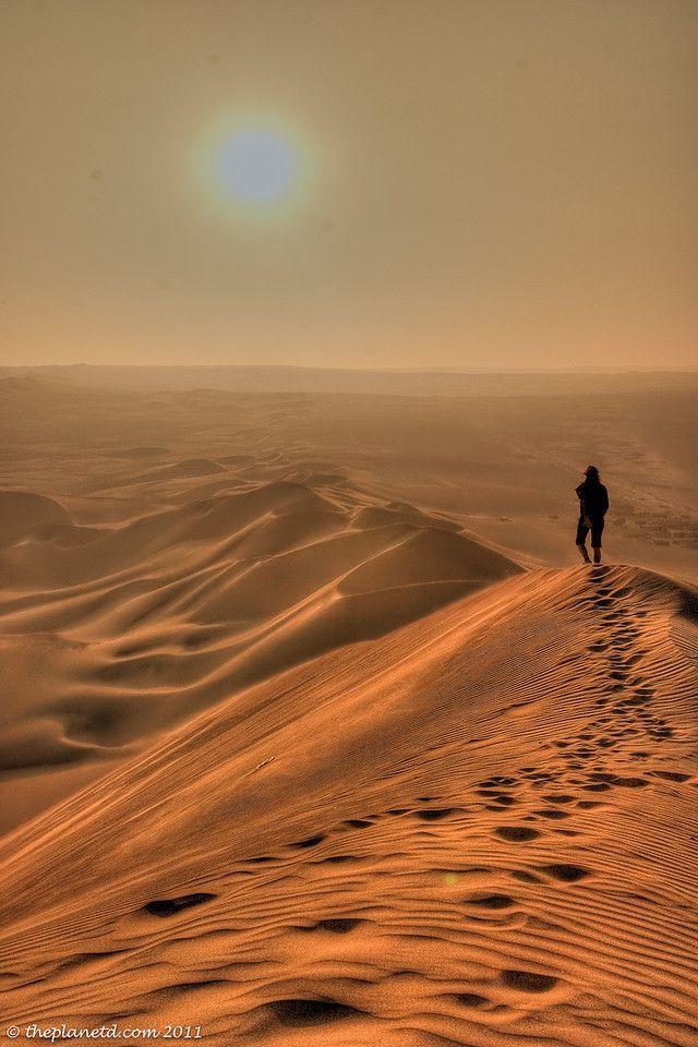 The Sand Dunes of Huacachina, Peru.