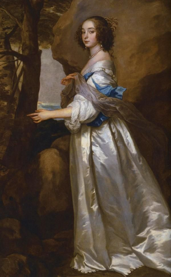 1637 Lady Francis Buckhurst, Countess of Dorset, by Sir Anthony Van Dyke (Knole Mansion - Sevenoaks, Kent UK)
